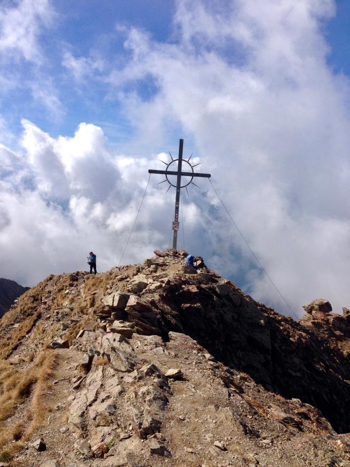 das Gipfelkreuz, wir haben es geschafft