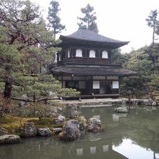 Ginkakuji Tempel im Garten