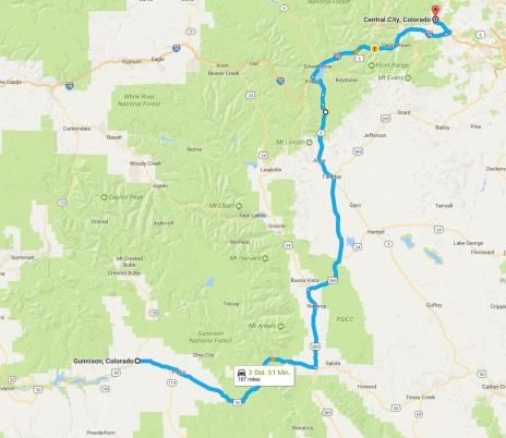 Von Gunnison nach Central City