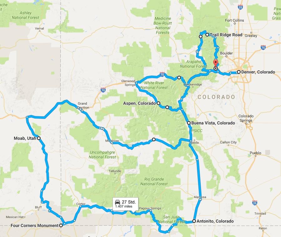 Anreise nach Denver, CO, USA