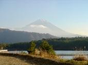 Mt. Fuji in der Abenddämmerung