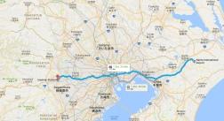 Busstrecke Narita Airport nach Hachioji