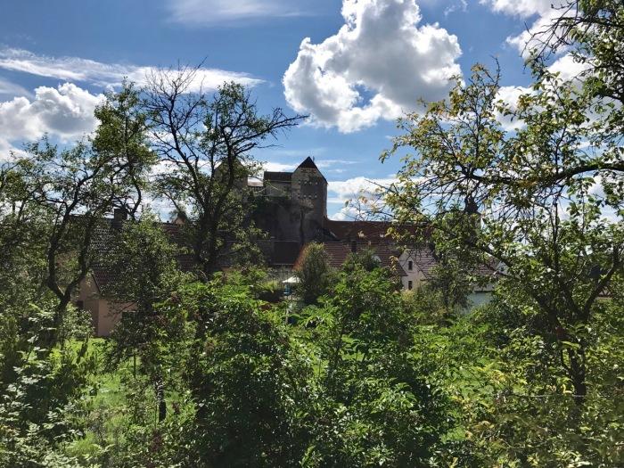 Blick auf die Burg von Hiltpoltstein