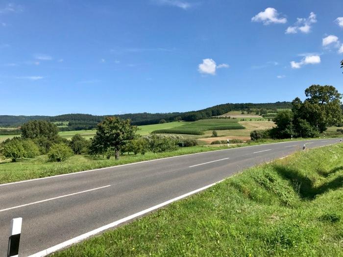 schöne Aussicht zwischen Neunkirchen und Großenbuch