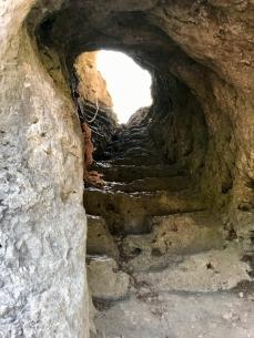 Aufstieg zum Aussichtspunkt am Zeckenstein
