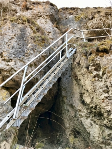 Aufstieg zum Aussichtspunkt Zeckenstein