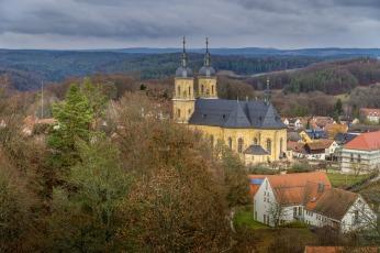 Ausblick auf die Basilika Gößweinstein