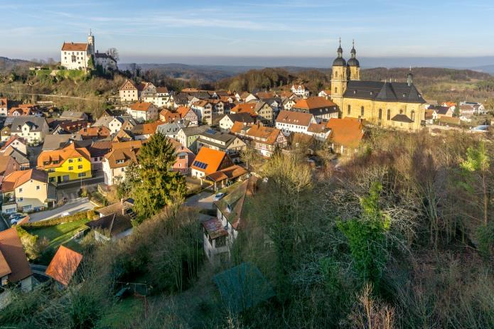 Blick vom Gernerfelsen nach Gößweinstein