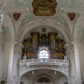 Blick auf die Basilikaorgel