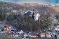 Blick zur Burgruine Streitburg