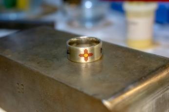 Ring ist fertig satiniert