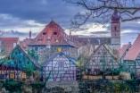 Das Krottental mit dem historischen Salzmagazin und der St. Martins Kirche