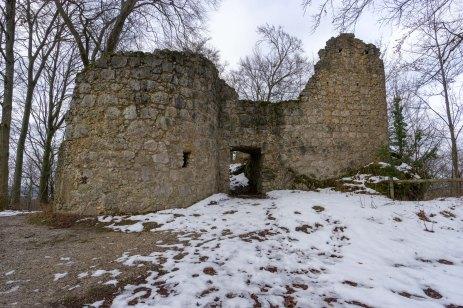 Eingang zur Burgruine