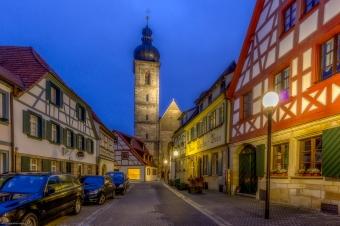 Teil der Forchheimer Altstadt mit seiner St. Martins Kirche