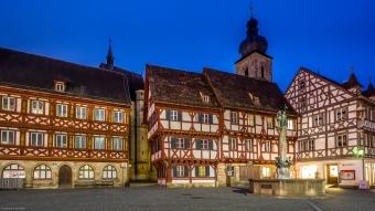 Das vor 1200 Jahren erstmals urkundlich erwähnte Forchheim mit seinem Fachwerkensemble am Rathausplatz