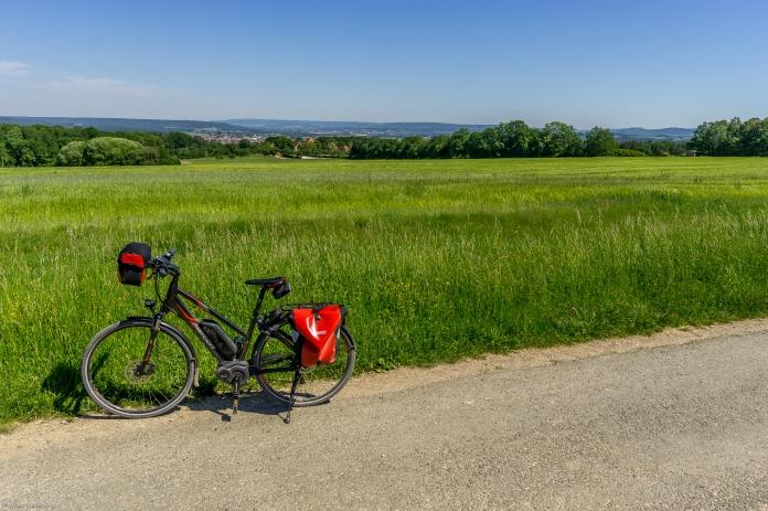 Eine Fahrrad-Tour mit herrlichem Fernblick nach Forchheim und in die Fränkische Schweiz