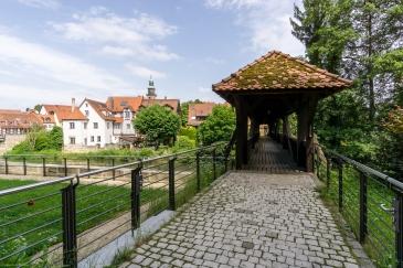 Alte Holzbrücke über die Pegnitz