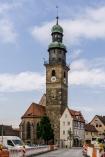 die weithin sichtbare Johanniskirche