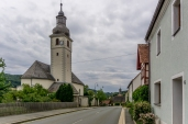 die Ortschaft Kirchahorn