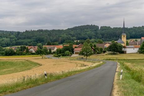 Blick auf die Ortschaft Poppendorf