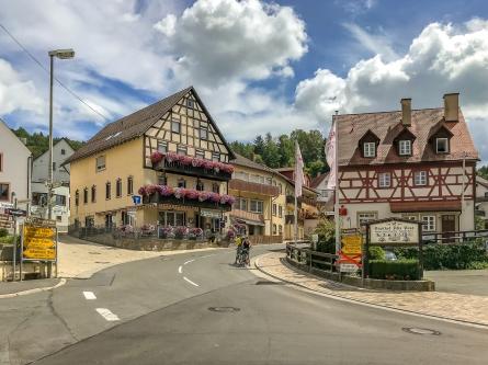 Obertrubach mit seinem alten Fachwerkhäusern