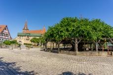 Wehrkirche und Tanzlinde in Effeltrich