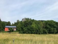 Blick auf die Burgruine Streitburg