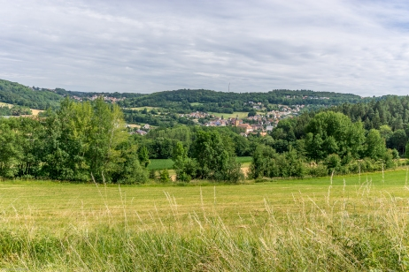 Blick auf Weißenohe mit Kloster