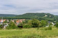 Gunzendorf mit Senftenberger Kapelle und etwas versteckt, der Biergarten