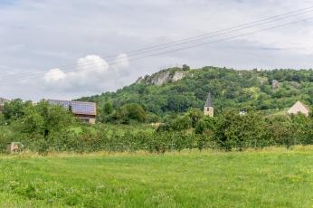 Blick zum Walberla von Schlaifhausen aus
