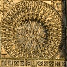 """die steinerne Rosette bzw. der """"Stern von St. Lorenz"""""""