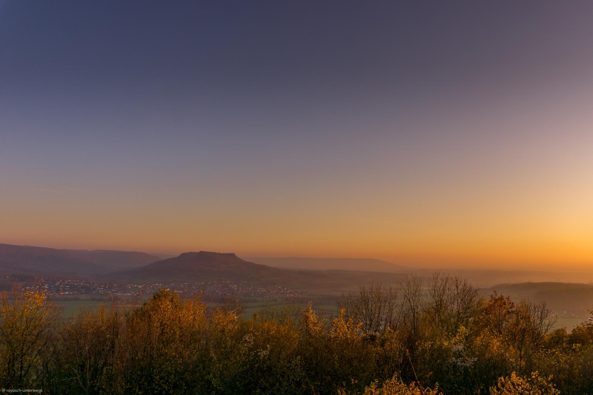 Sonnenuntergang in der Fränkischen Schweiz