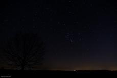Weitwinkel mit Orion in der Mitte