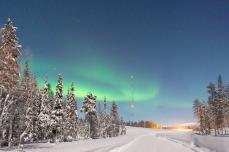 Äkäslompolo / Lappland; Tag 5, Polarlichter (Aurora borealis)