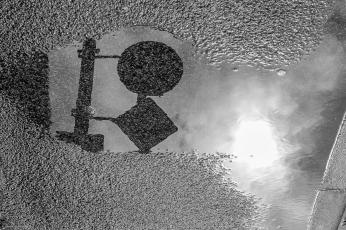 Wasserpfützen als Fotomotiv
